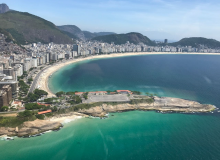 Copacabana beach from Helicopter